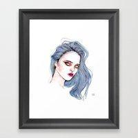 Sky Ferreira /  Blue  Framed Art Print