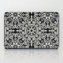 Black & White Folk Art Pattern iPad Case