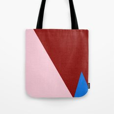 Blue Triangle Tote Bag