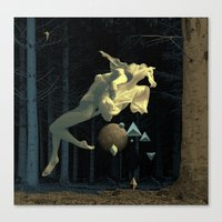 At night in the forest Canvas Print