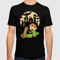 Shaggy N Scoob Mens Fitted Tee Black SMALL