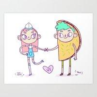 Taco love 2  Art Print