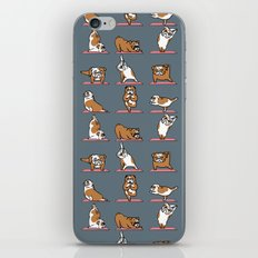 English Bulldog Yoga iPhone & iPod Skin