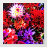 Glowing Flowers Canvas Print