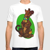 Scooby Mens Fitted Tee White SMALL