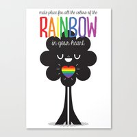 Rainbow Heart Canvas Print