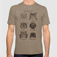 Caffeinated Owls Mens Fitted Tee Tri-Coffee SMALL