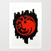 Fire And Blood - Game Of… Art Print