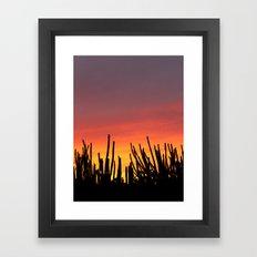 Catching fire Framed Art Print