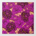 satin and lace flowers Canvas Print