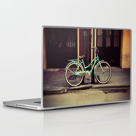 Turquoise Bike Laptop & iPad Skin