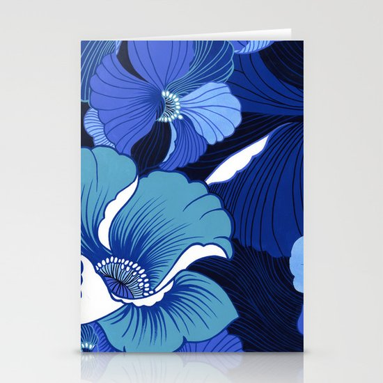 Blue For Poppies Stationery Card