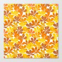 Chestnut tree autumn leaves Canvas Print