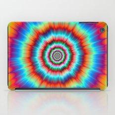 Explosion in Blue and Orange iPad Case