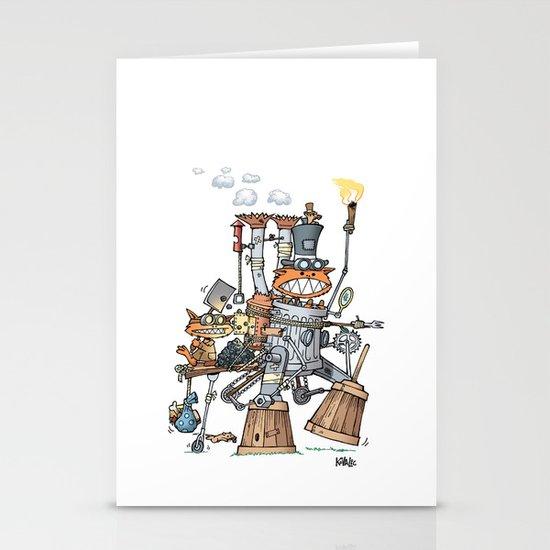 Steampunk Kobolds Stationery Card