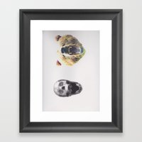 Skullz And Bearz Framed Art Print