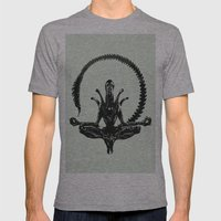 Meditation Alien Mens Fitted Tee Athletic Grey SMALL