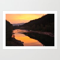 Montana Sunset  Art Print