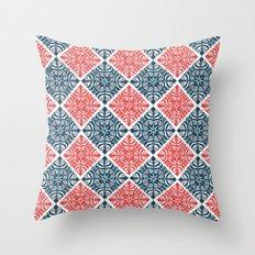 Floral Rhombus Throw Pillow