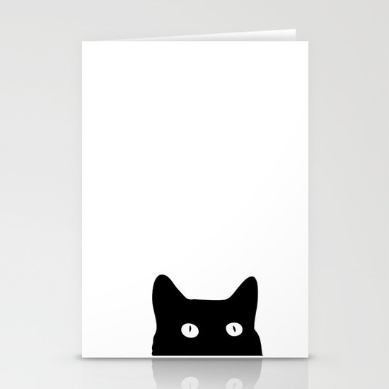 Black Cat Stationery Card