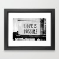 Love is possible - Berlin stencil Framed Art Print