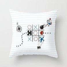 Tic Tac Tedium Throw Pillow