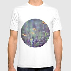 All Good Things (Daisy) Mens Fitted Tee SMALL White