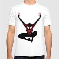 Ultimate Spiderman Mens Fitted Tee White SMALL