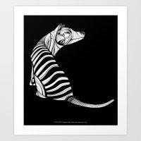 Thylacine (Tasmanian Tig… Art Print