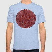 Red Buttons Mens Fitted Tee Tri-Blue SMALL