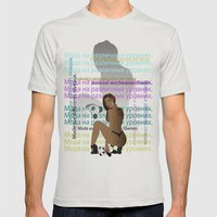 Bear in Hand Mens Fitted Tee Silver SMALL