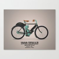 1902 indian motorcycle Canvas Print
