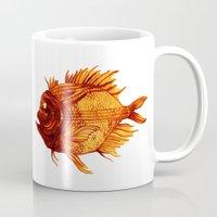 Orange Fish Mug