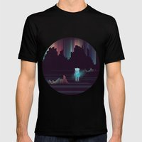 The Adventure Continues … Mens Fitted Tee Black SMALL