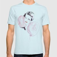 Bubbles Mens Fitted Tee Light Blue SMALL