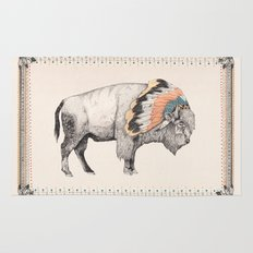 White Bison Rug