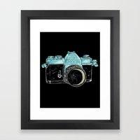 look the moon Framed Art Print