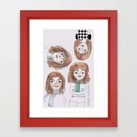 Hello winter Framed Art Print