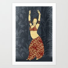 Belly dancer 17 Art Print