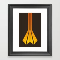 Retro Lines - Orange Fla… Framed Art Print