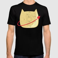 CatStronaut Emblem SMALL Mens Fitted Tee Black