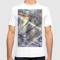 Ink Explosion  Mens Fitted Tee White SMALL