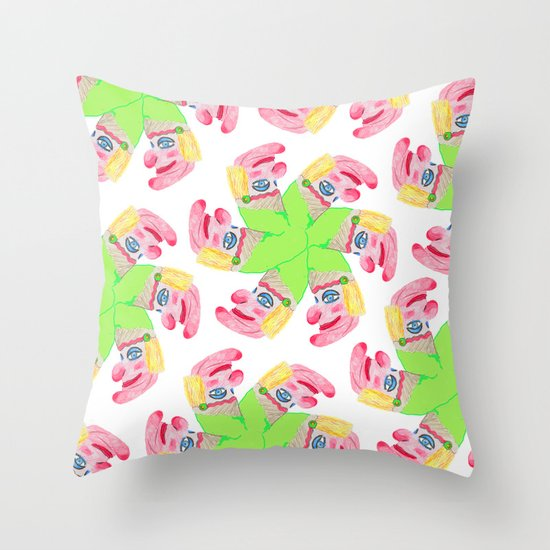 Punchy Colours Throw Pillow