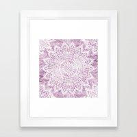 BOHEMIAN FLOWER MANDALA … Framed Art Print