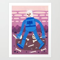 Sad Spaceman  Art Print