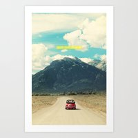 NEVER STOP EXPLORING III Art Print