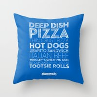 Chicago — Delicious Ci… Throw Pillow