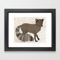 Brown Fox Framed Art Print