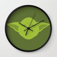 Star Wars Minimalism - Yoda Wall Clock