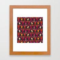 Vibrant Triangles Framed Art Print